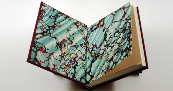 Marbled Paper Endsheets Bookbinding