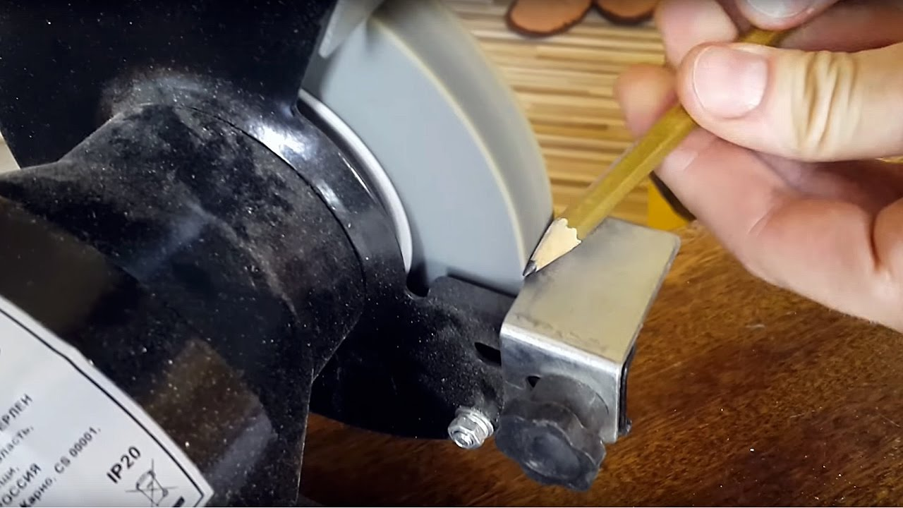 Sharpening a Pencil with a Bench Grinder