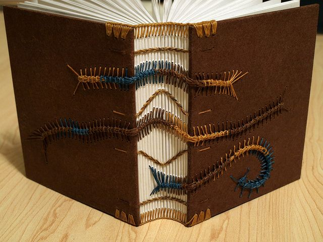 Top 10 coptic stitch binding tutorials on the internet coptic binding caterpillars brown covers bookbinding solutioingenieria Choice Image
