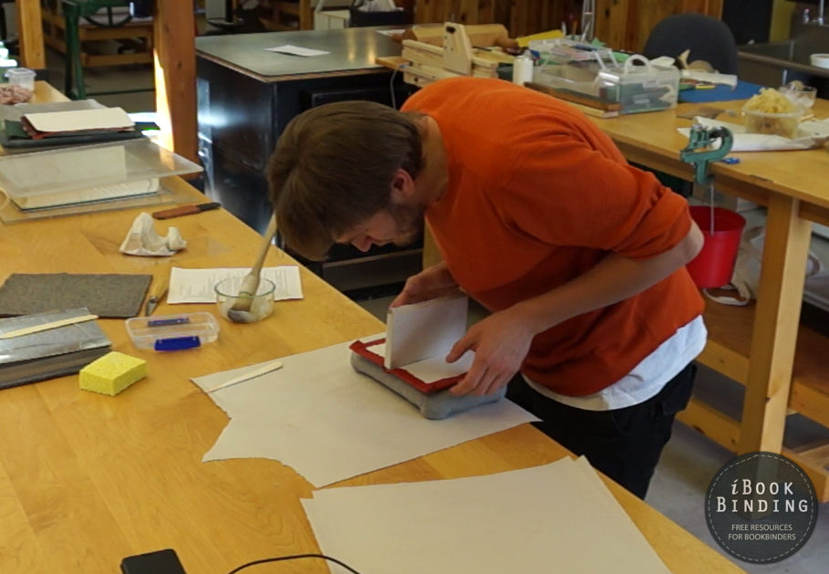 Stepan Chizhov Studying Bookbinding at AAB