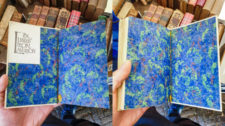 2019.10.23 - Colorful Blue-Green Paste Paper from an Early 20th-Century Binding