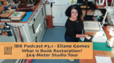 2020.05.11 - iBB Podcast #3.1 - Eliane Gomes Nautilus Boekbinderij. What Is Book Restoration - 3x4m Studio Tour